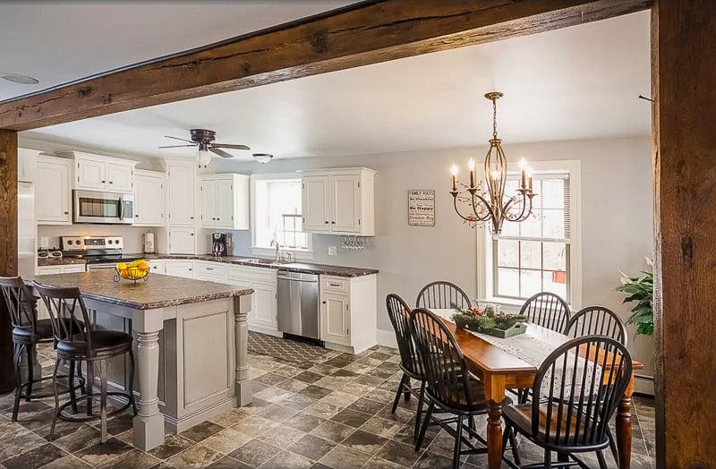 Open interior living space