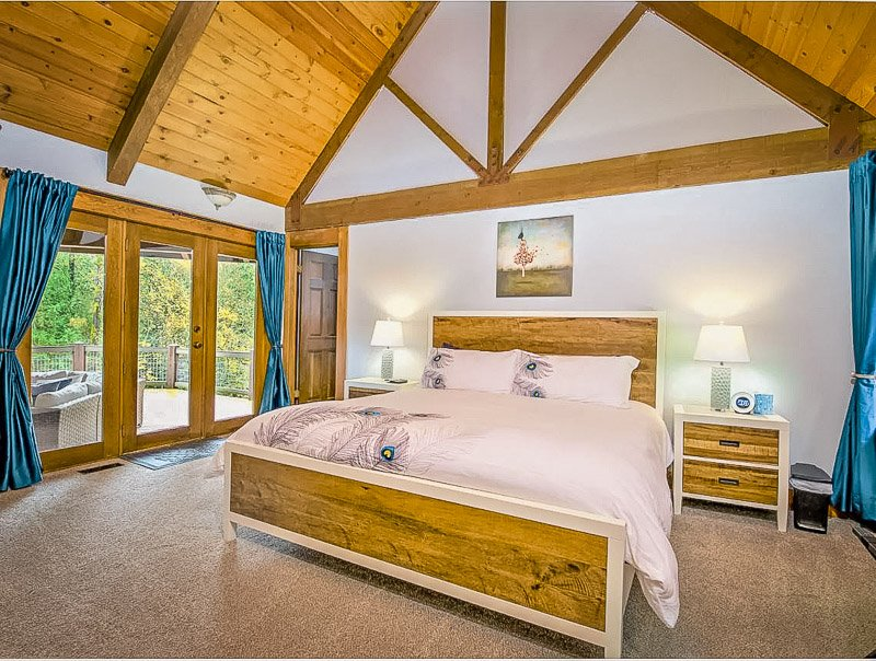Cozy master bedroom inside this Washington state house for rent