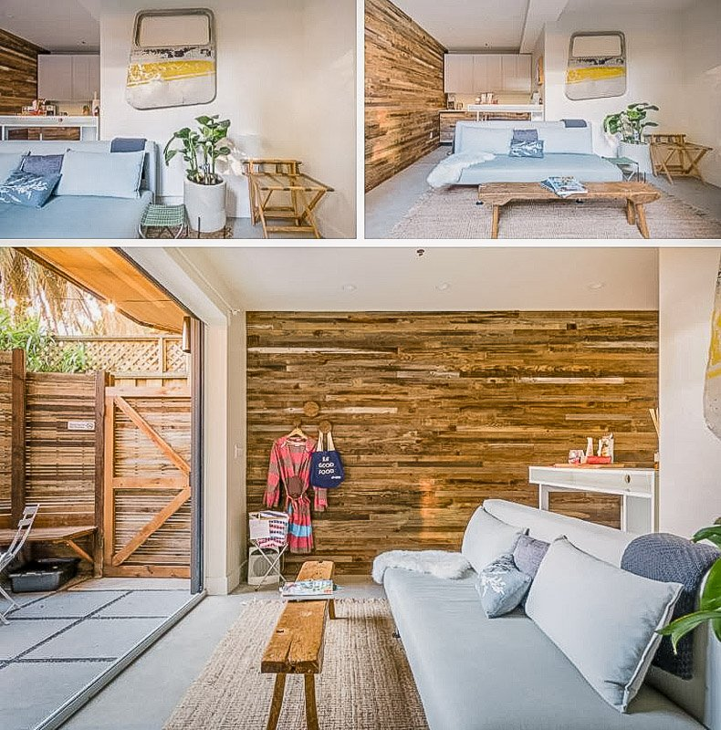 Modern and chic interior decor inside the San Francisco Airbnb.