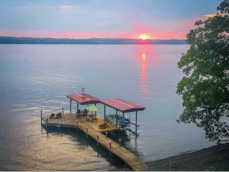 Sunset views of the lake