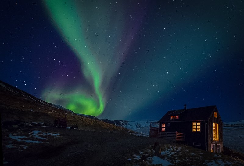Northern Light Airbnbs in the heart of Iceland