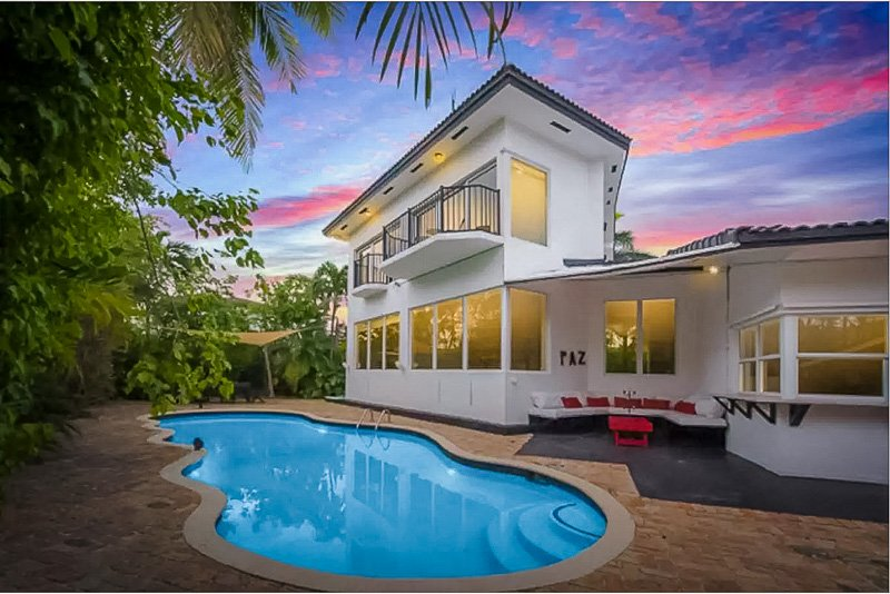 A luxury Miami villa for rent with lots of charm and personality