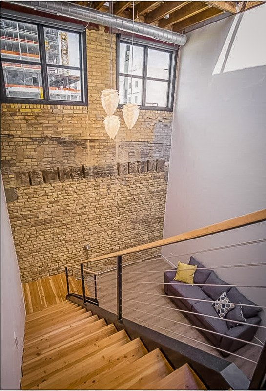 High ceilings inside the loft accommodation