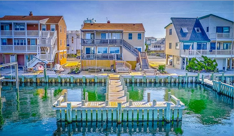 A beautiful beach house on the water in New Jersey