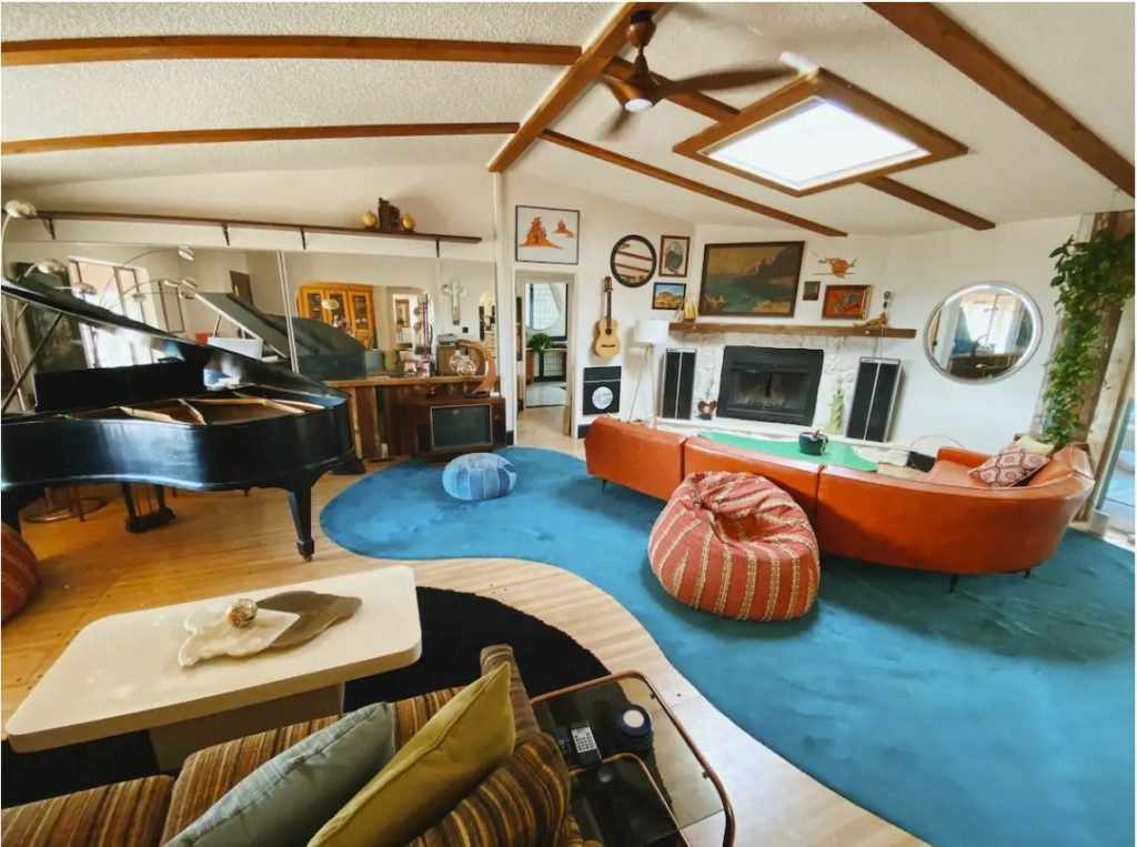 California Airbnb rental with indoor bowling alley and other top amenities