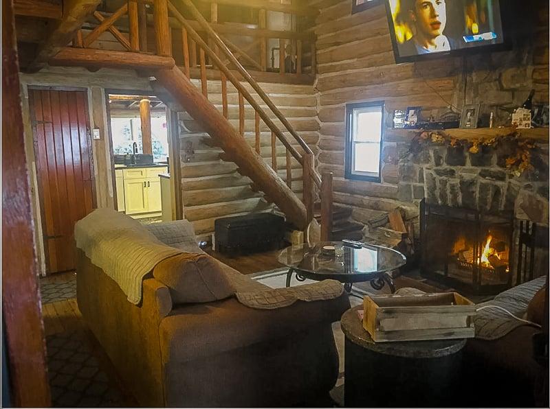 Cozy log cabin vibes