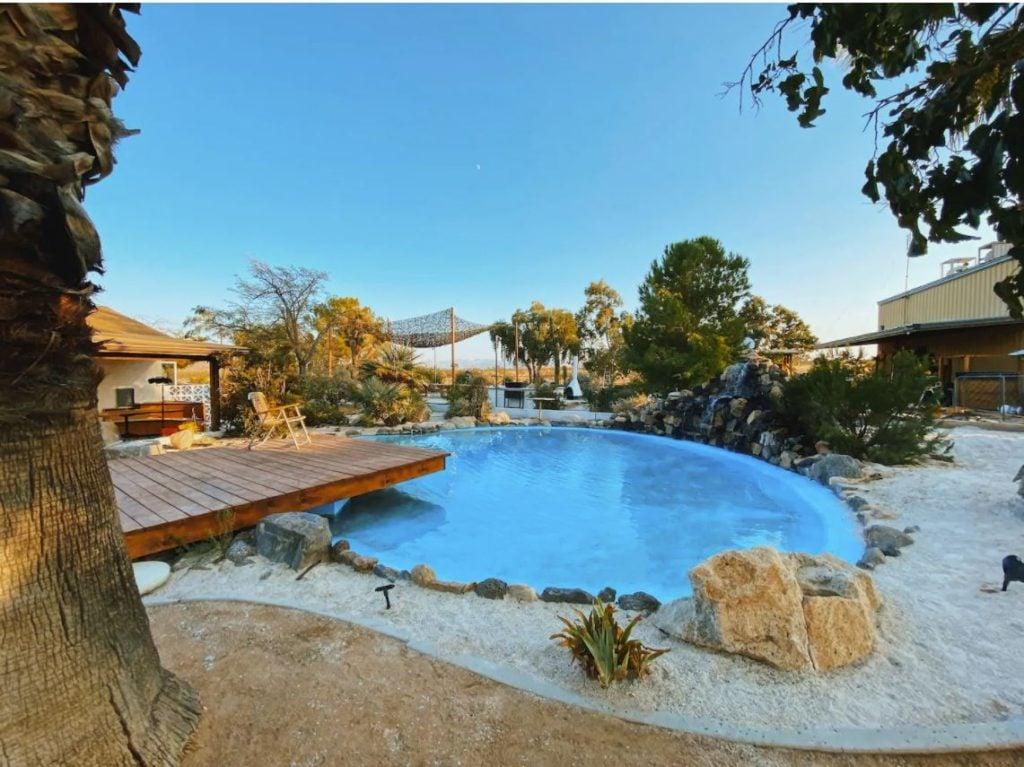 Small pool in the backyard.