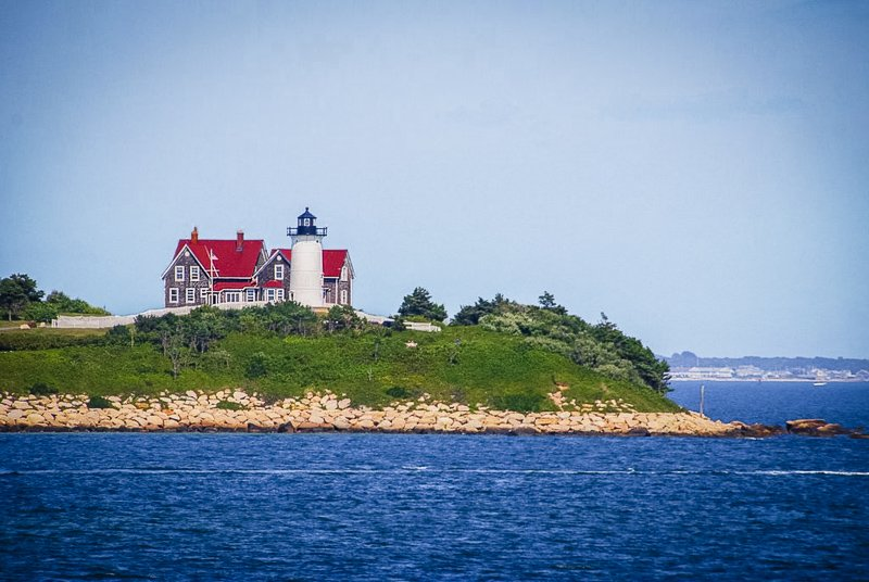 Classic New England lighthouse in the heart of Massachusetts.