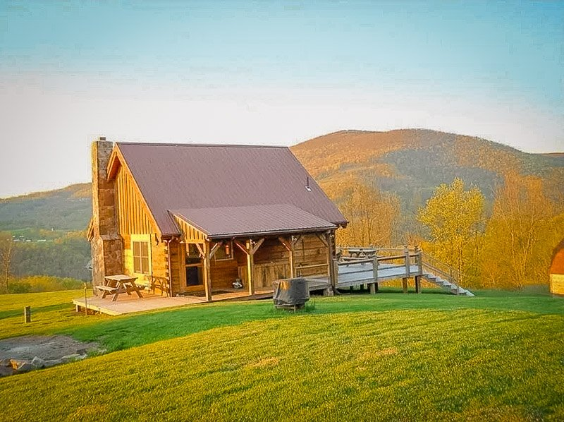 One of the most romantic cabins for rent in WV imaginable