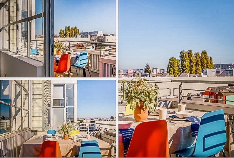 A loft-style Airbnb for rent in San Fran with a view