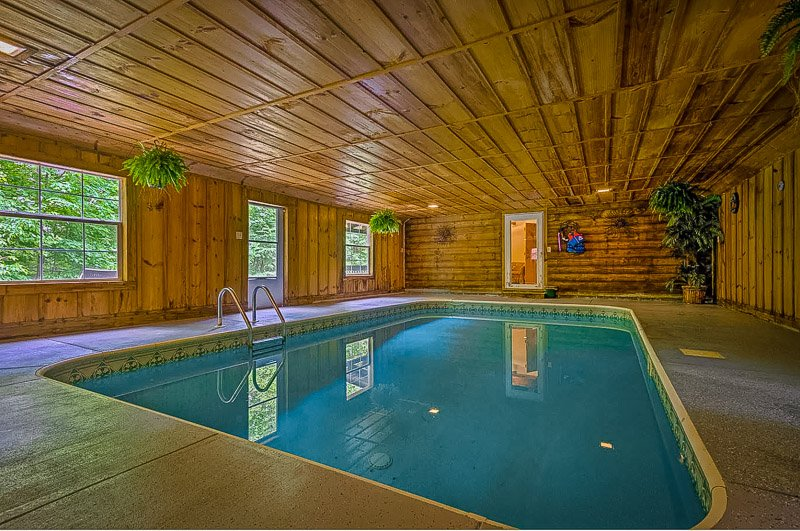 A top rental with private indoor swimming pool in the USA