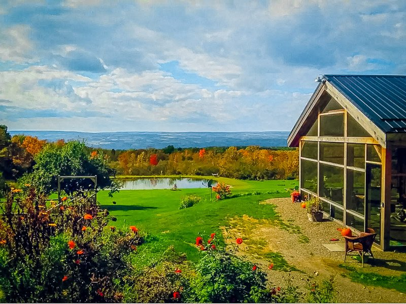 Quiet and secluded Finger Lakes vacation rental with a view