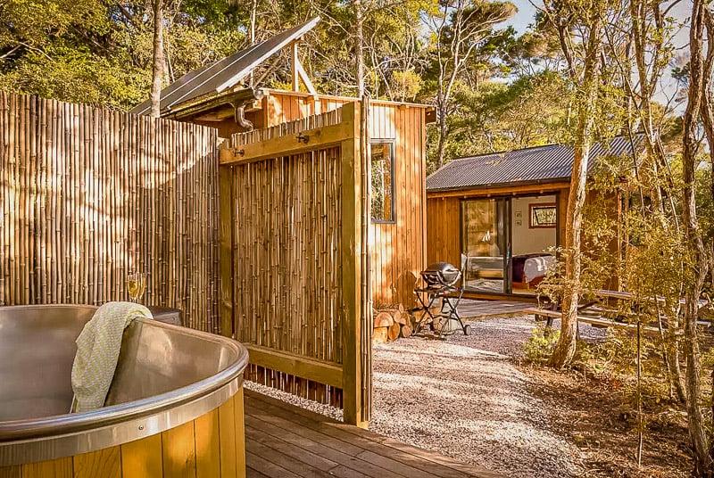Outdoor soaking tub.