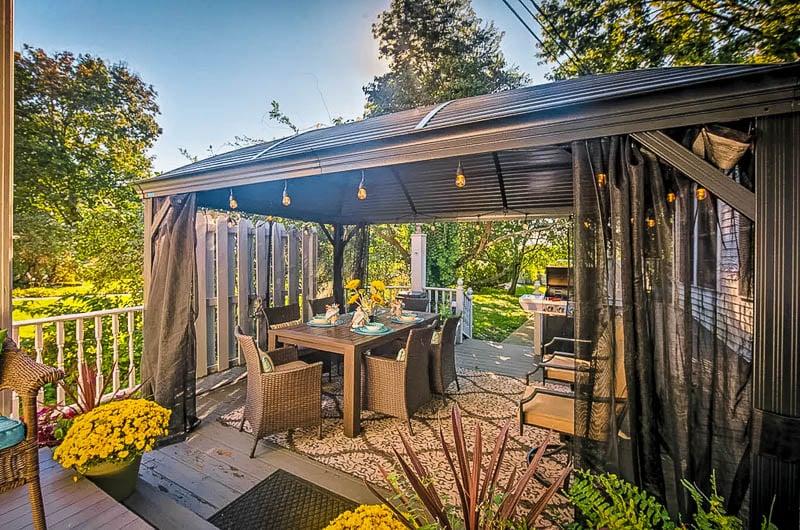 Beautiful outdoor dining area.