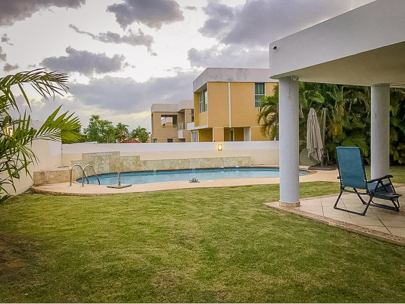 Pool in the backyard of this Puerto Rico villa rental