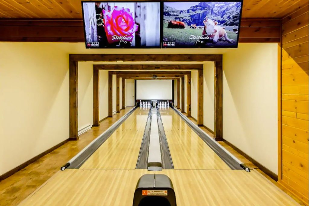 Indoor bowladrome inside the vacation rental