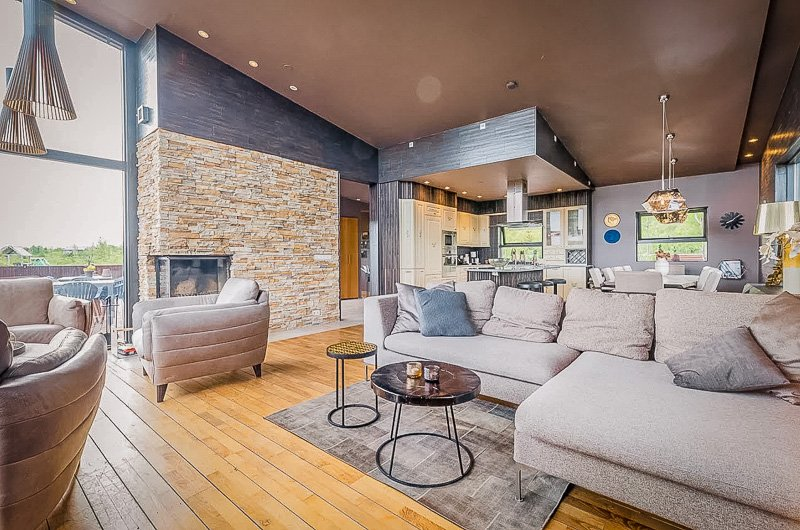 Modern open concept layout inside this amazing vacation rental in Iceland