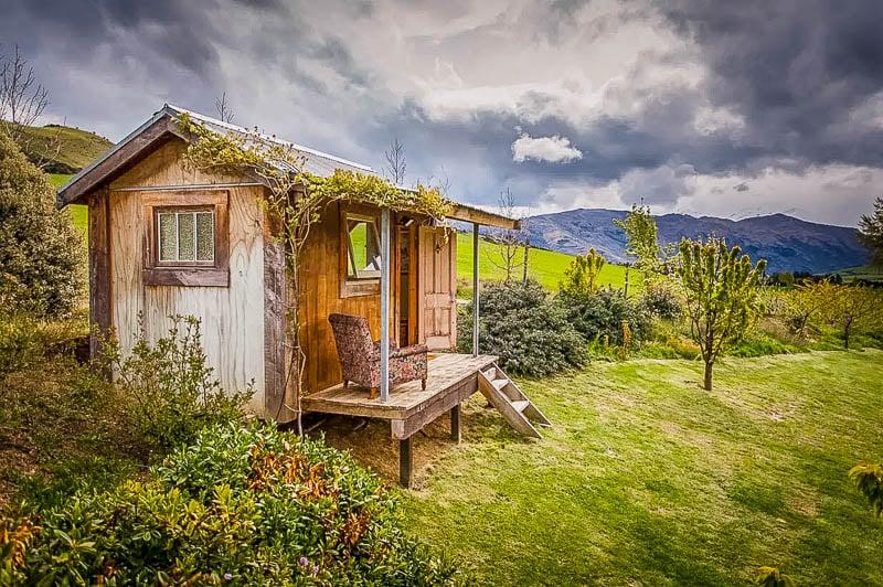 Quaint cabin rental in New Zealand