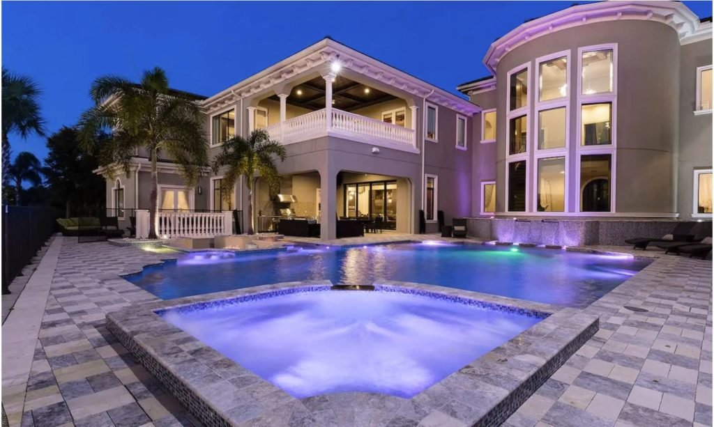 Florida luxe home for rent with private bowling alley