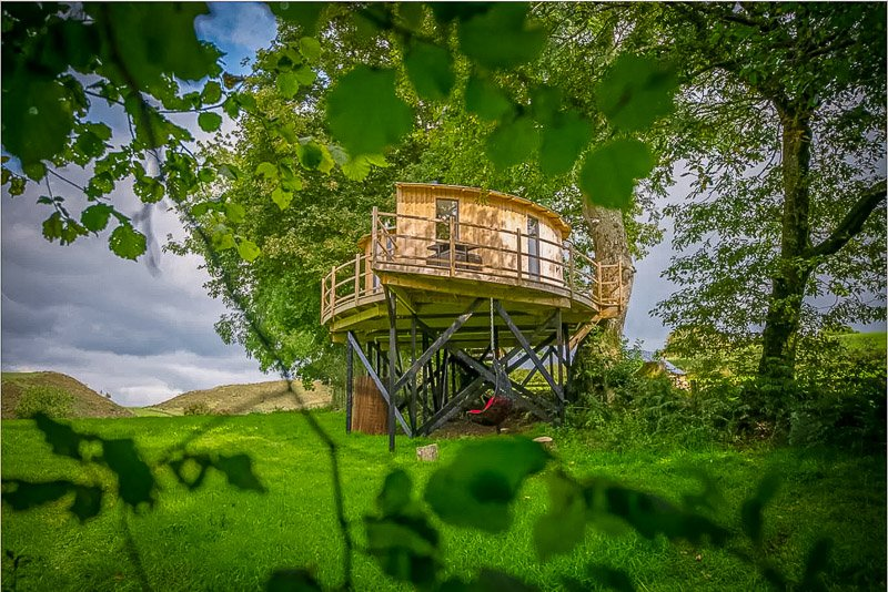 Unique treehouse rental in UK