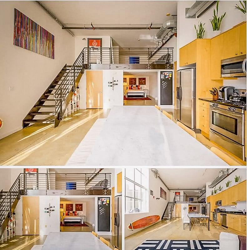 Modern furniture and loft layout