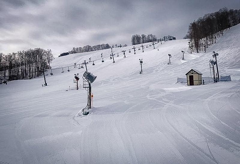 Ski slopes at Boyne Mountain