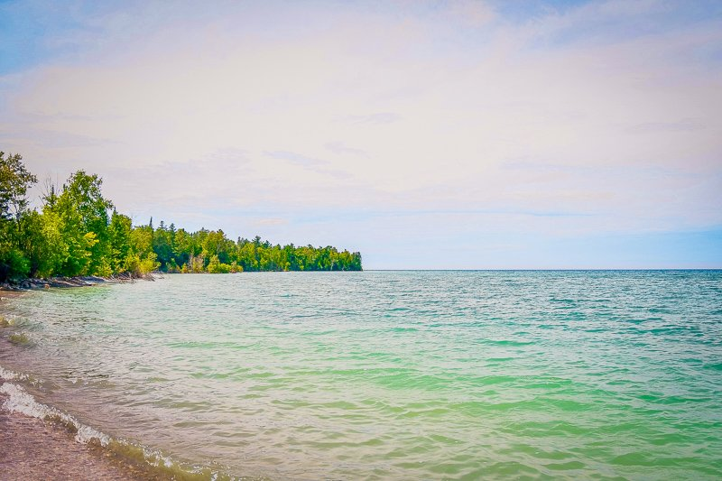 Charlevoix, MI in the summer.