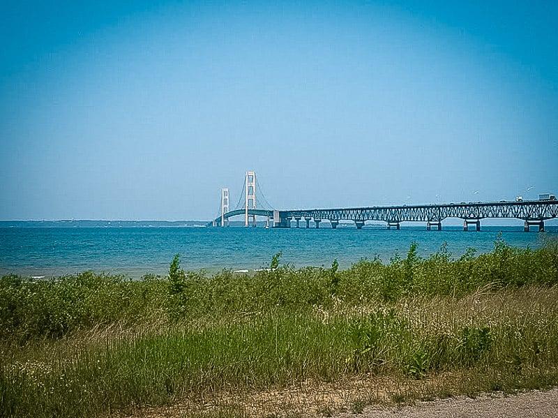 Mackinac Bridge from afar.