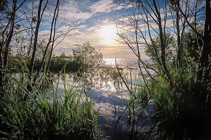 Lake Michigan sunset from Michigan Beach Park in Charlevoix.