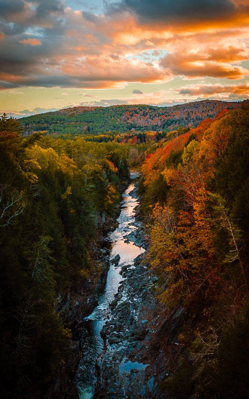 Exploring Quechee Gorge is among the most fun things to do in Vermont.