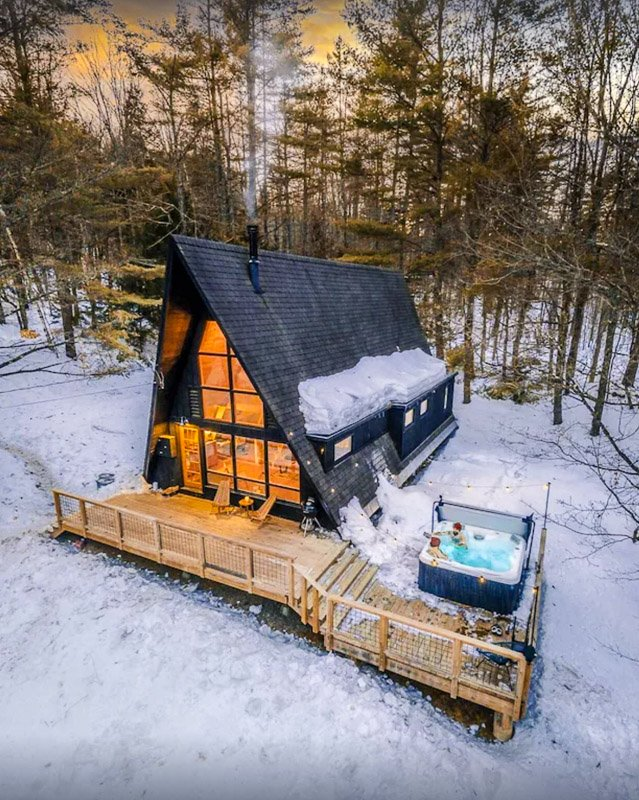 This modern Vermont cabin is on the pricy side, but it's 100% worth it for these views.