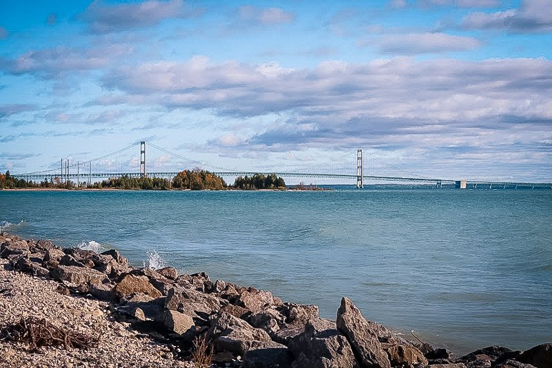 Mackinac Bridge is one of the best places to visit in West Michigan.