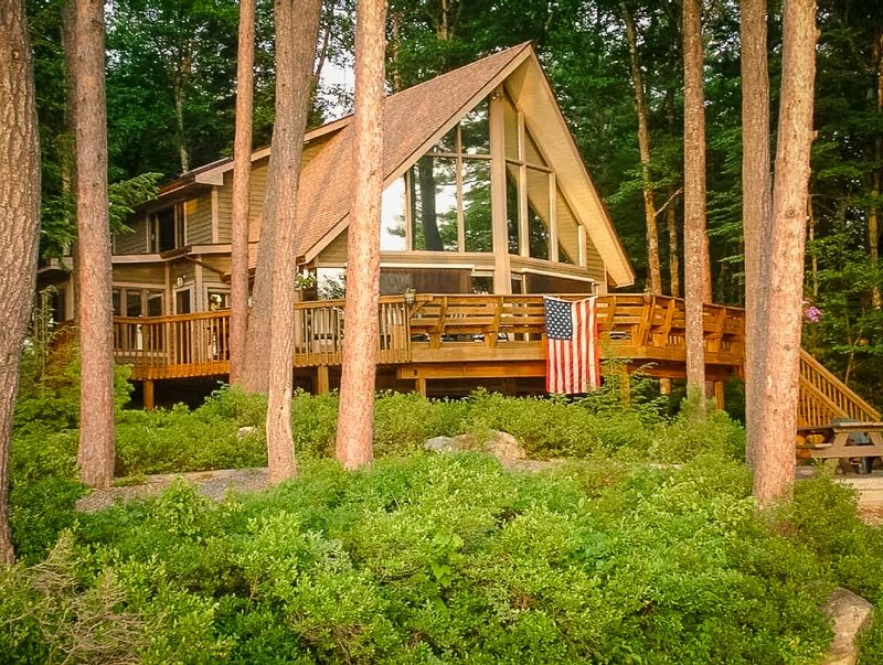 A-Frame cabin in the Lakes Region of New Hampshire