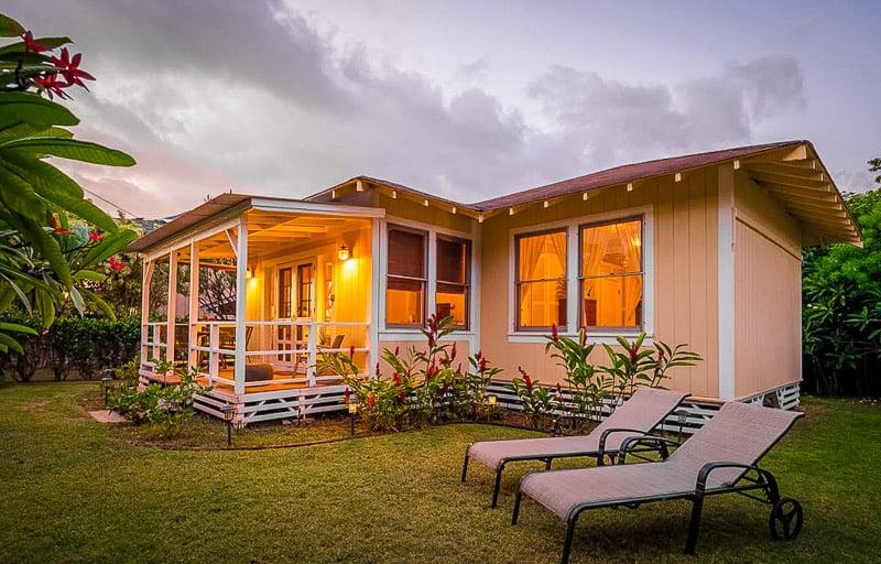 A villa in Hawaii with a gorgeous garden.
