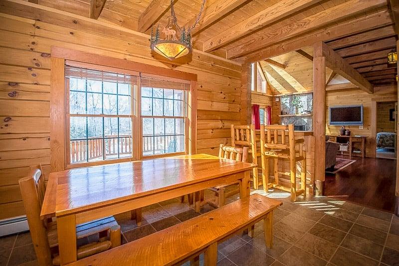 A unique NH log cabin rental