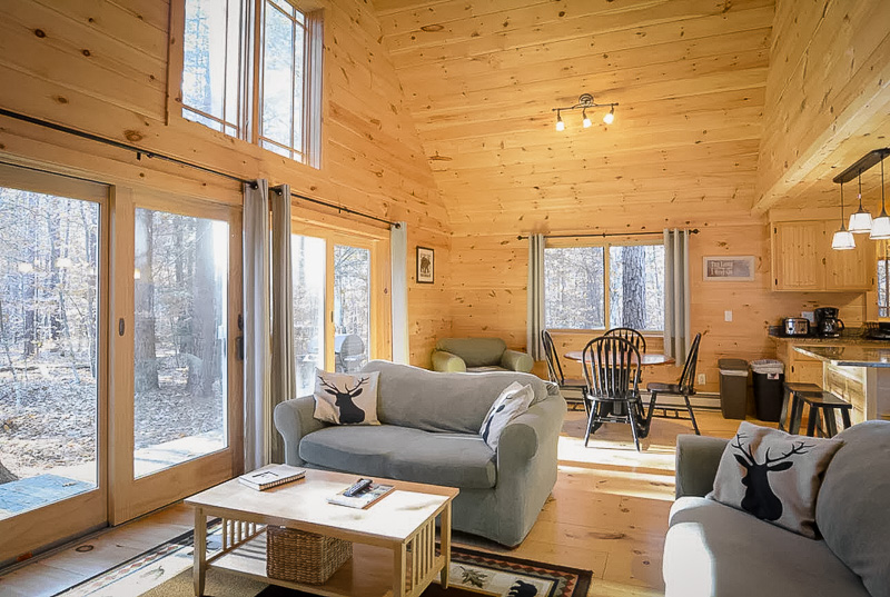 This cottage in New Hampshire is just steps from a state park, perfect for hiking and other outdoor adventures.