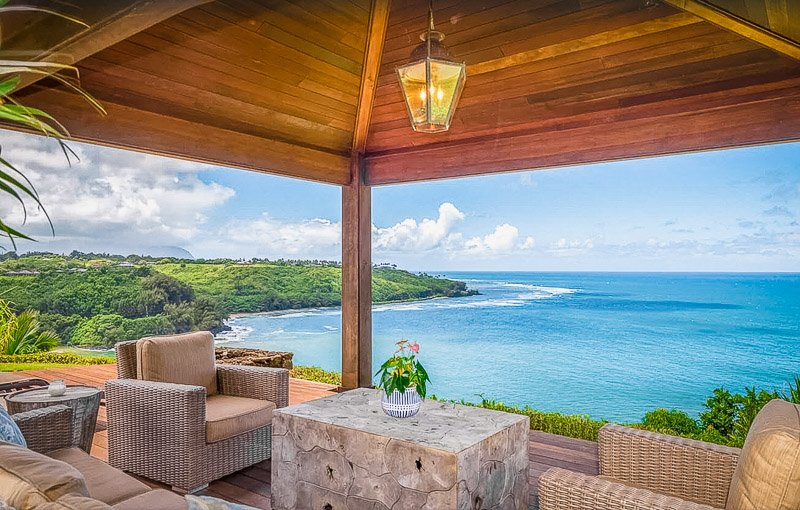 A unique beachfront house for rent in Hawaii.