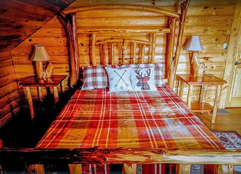 Master bedroom inside this KY rental.
