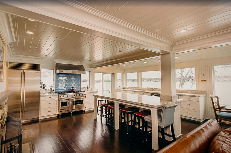 Kitchen and dining area inside this CT cottage rental.