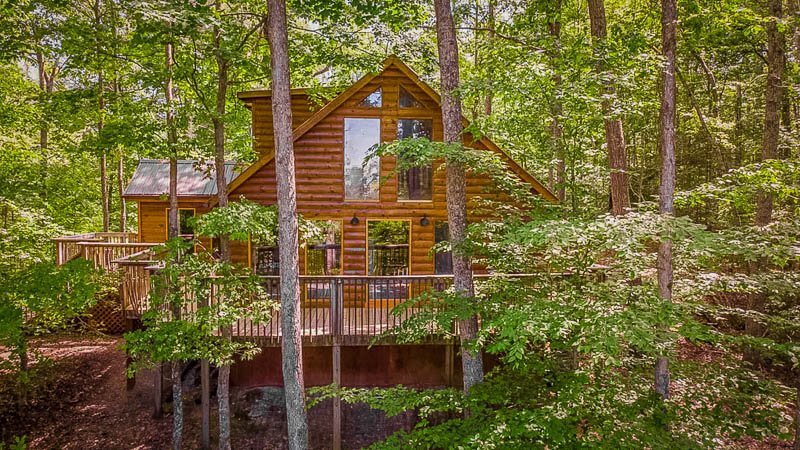 Breathtaking forest views from this Kentucky cottage rental