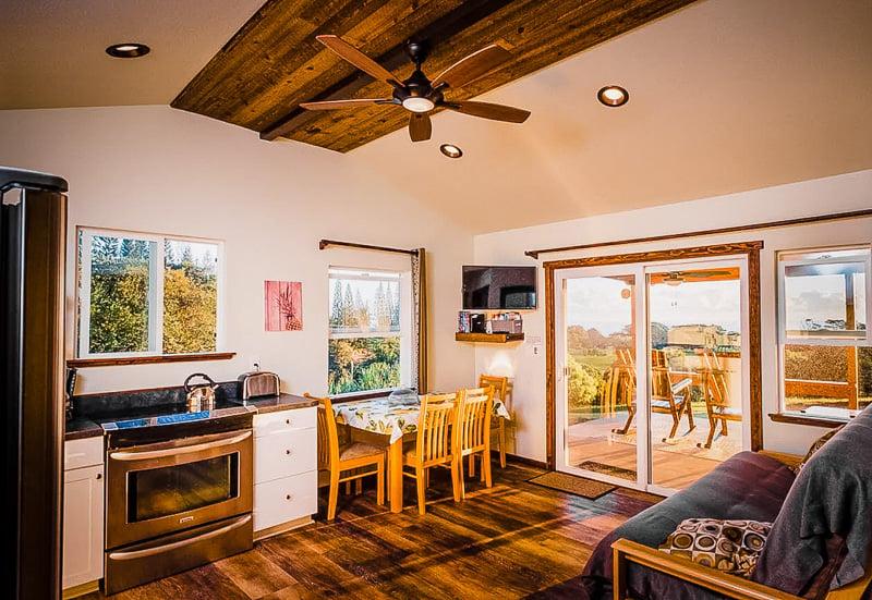 Elegant kitchen area inside this HI vacation rental
