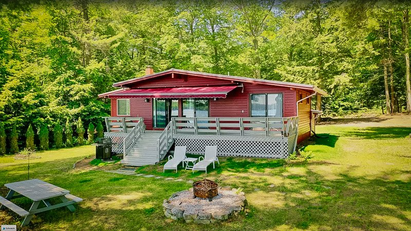 This cozy cottage is one of the coolest houses for rent on Lake Winnipesaukee.