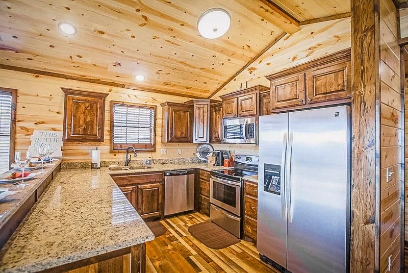 Elegant and modern kitchen area