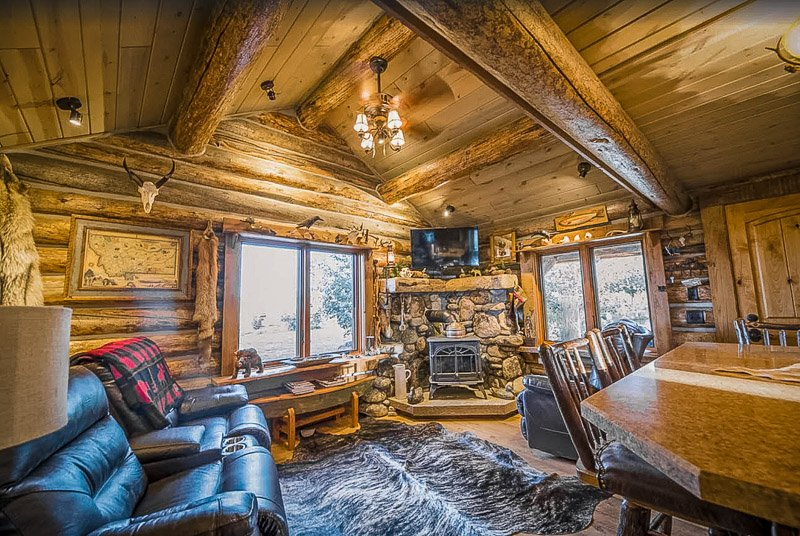 One of the coolest log cabin rentals in Montana