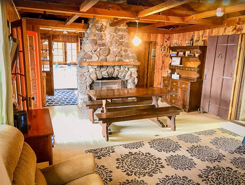 Cabin-style interior living space