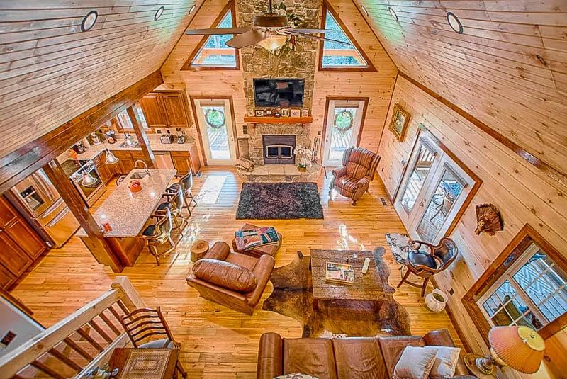 Elegant and rustic interior living space