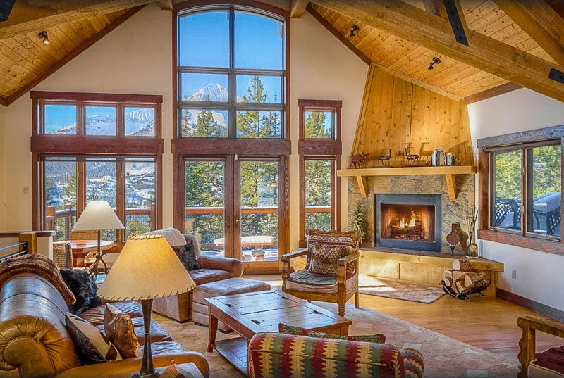 This luxury chalet is one of the best Montana log cabins for rent, hands down