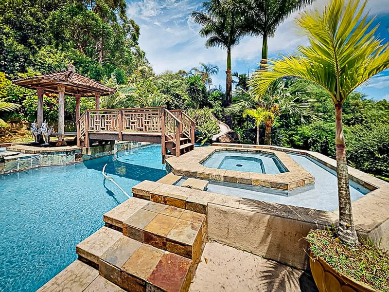 Beautiful outdoor pool at this Hawaii vacation home