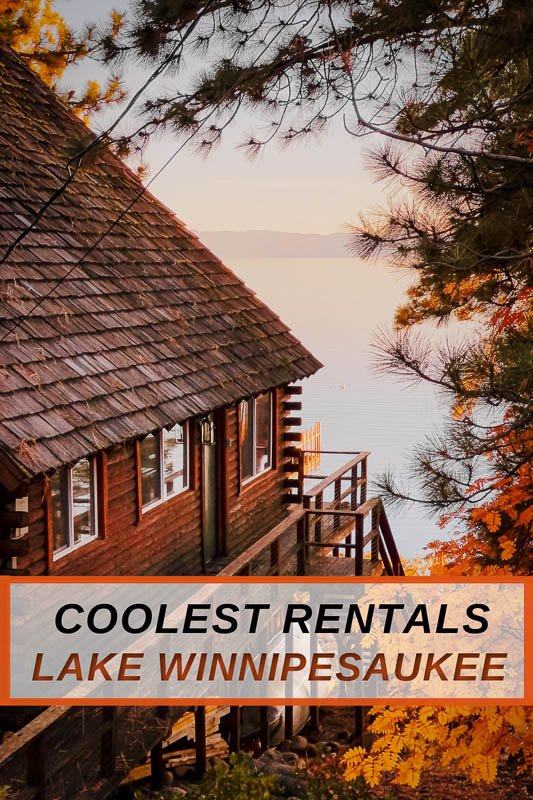 Most unique vacation rentals on Lake Winnipesaukee for all types of New England travelers
