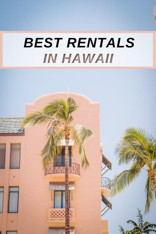 Unique house rentals in Hawaii including all major islands